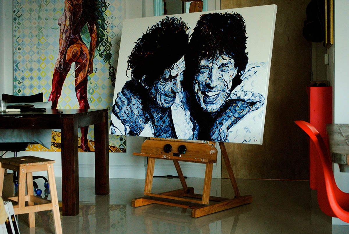 Mick and Keith Charlie Hanavich art