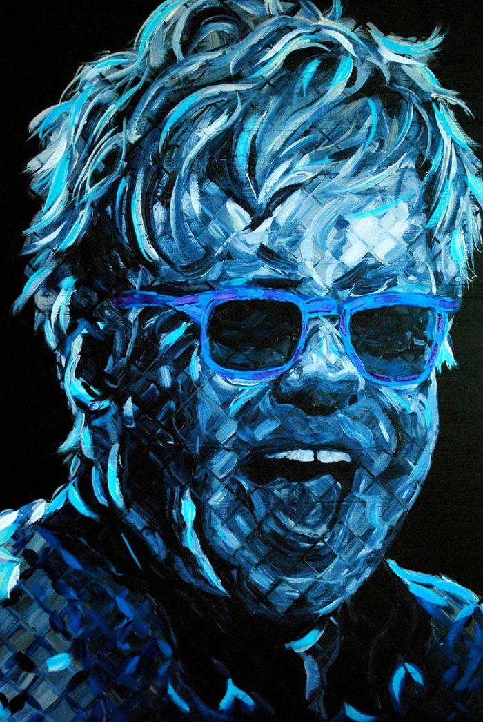 Elton John Painting Hanavich