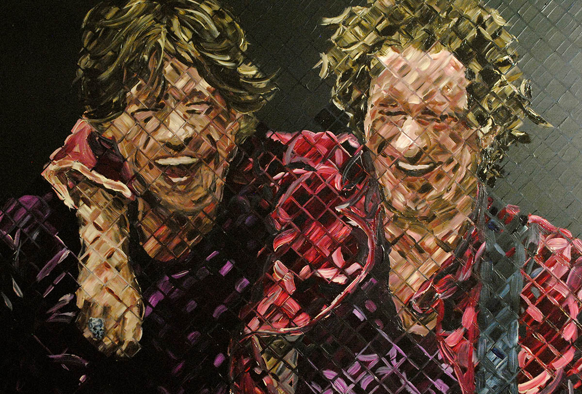 Mick Jagger and Keith Richards Painting by Charlie Hanavich