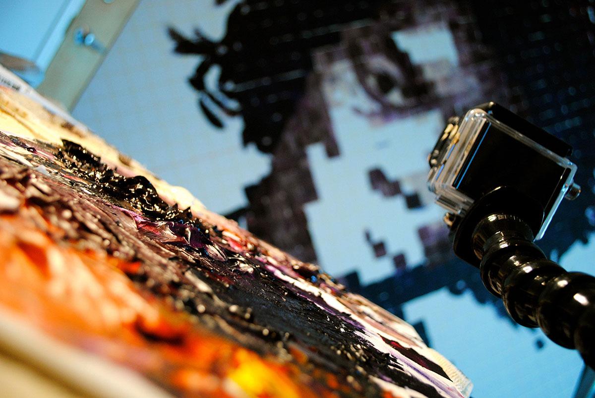 Miami Artist Charlie Hanavich Jimi Hendrix Painting Video