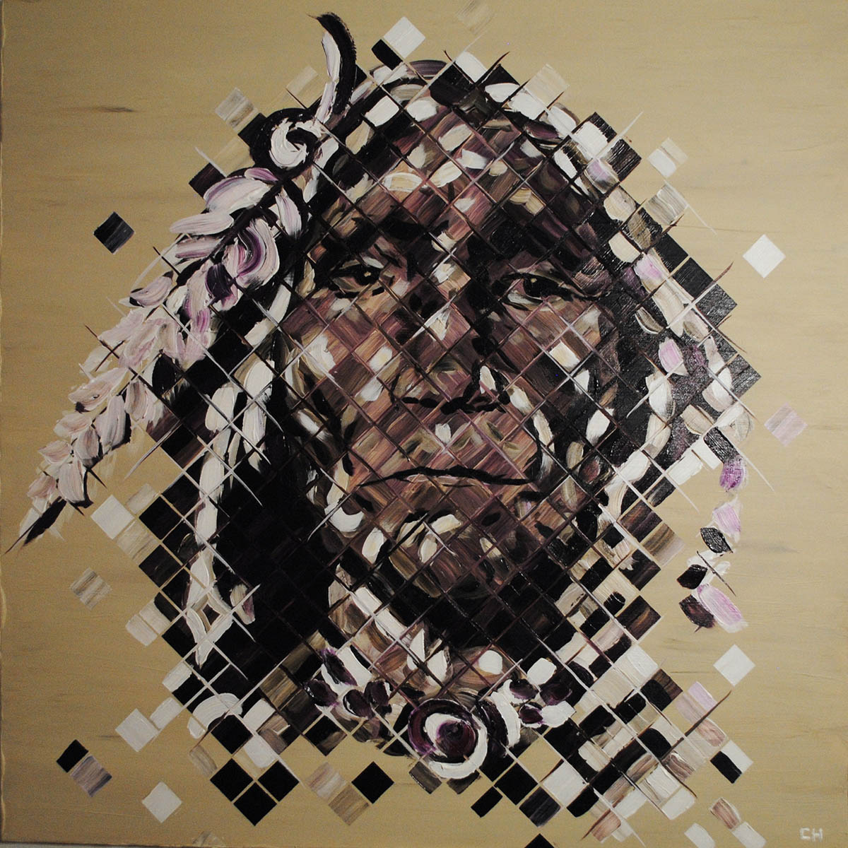 miami artist charlie hanavich paintings indians
