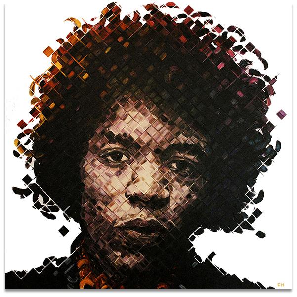 Jimi Hendrix Painting by Charlie Hanavich