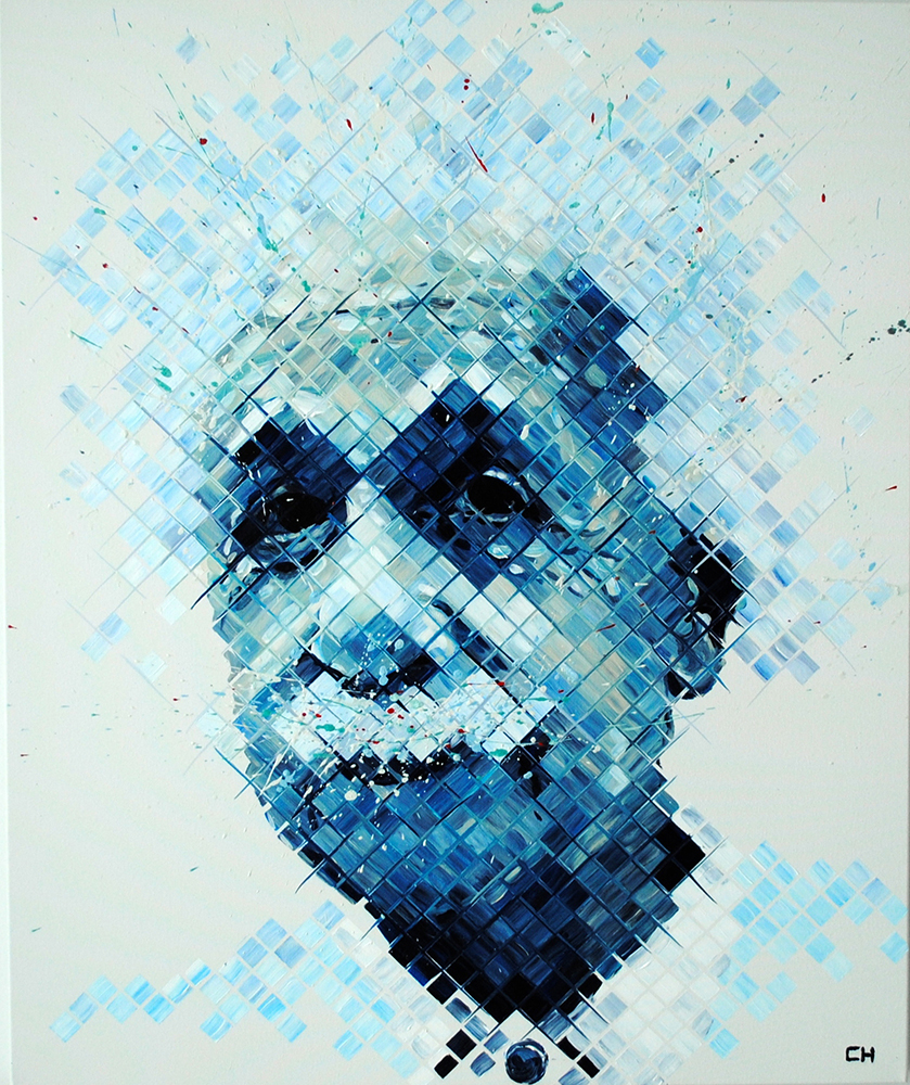 Albert Einstein Painting by Charlie Hanavich