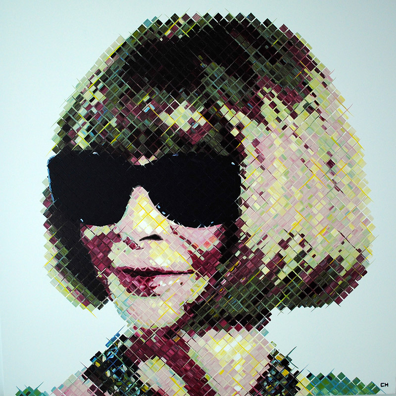 fine art painting of Anna Wintour