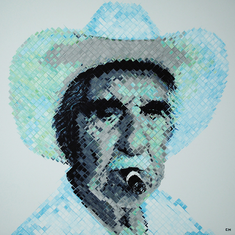 charlie Hanavich Art paints Don Pedro Bello of Little Havana Miami FL