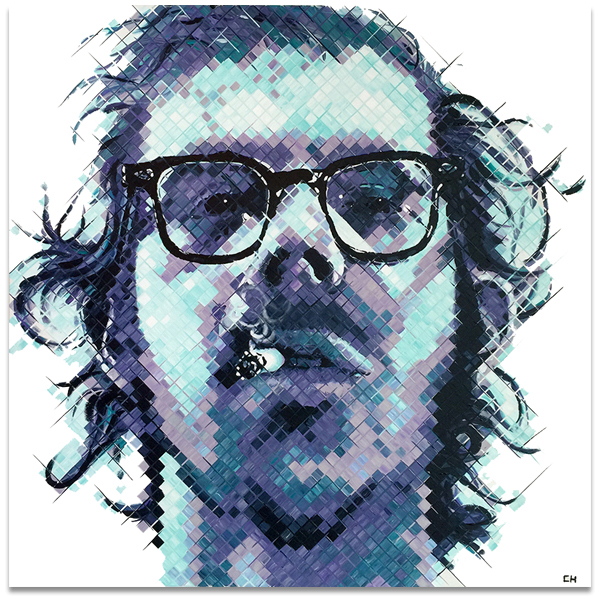 Chuck Close Portrait by Atlanta artist Charlie Hanavich