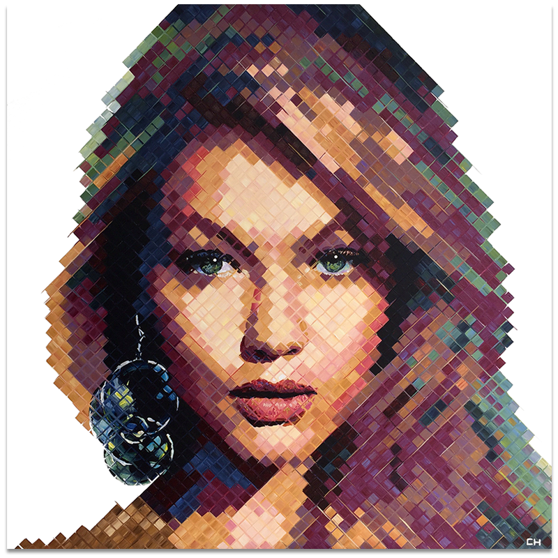 Portrait of Gigi Hadid Painting by Charlie Hanavich