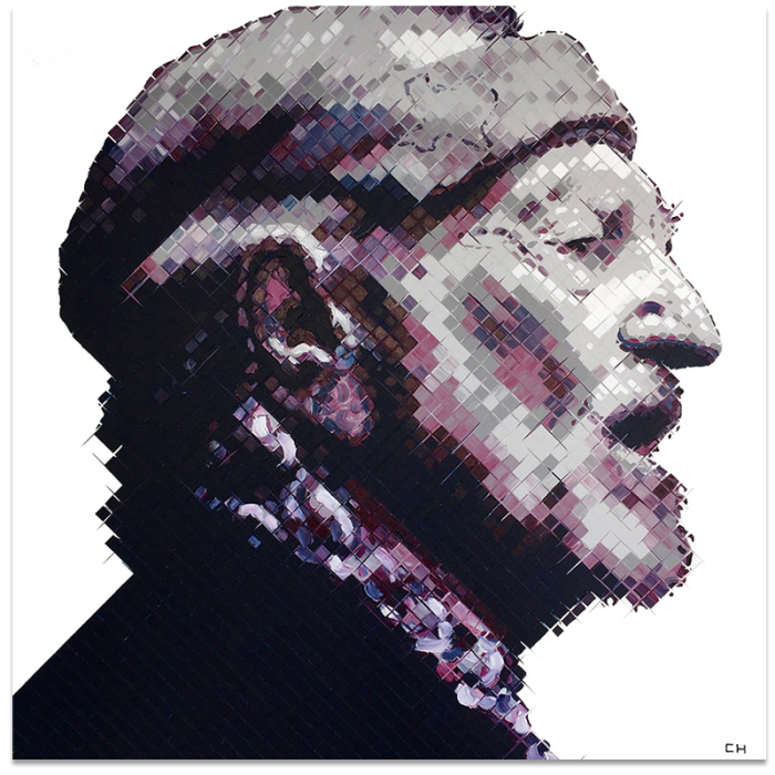 Willie Nelson Painting by Charlie Hanavich