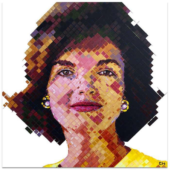 contemporary portrait of Jackie Kennedy by Atlanta artist Charlie Hanavich