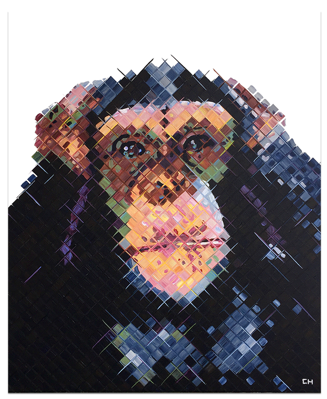Hear No Evil Painting by Charlie Hanavich