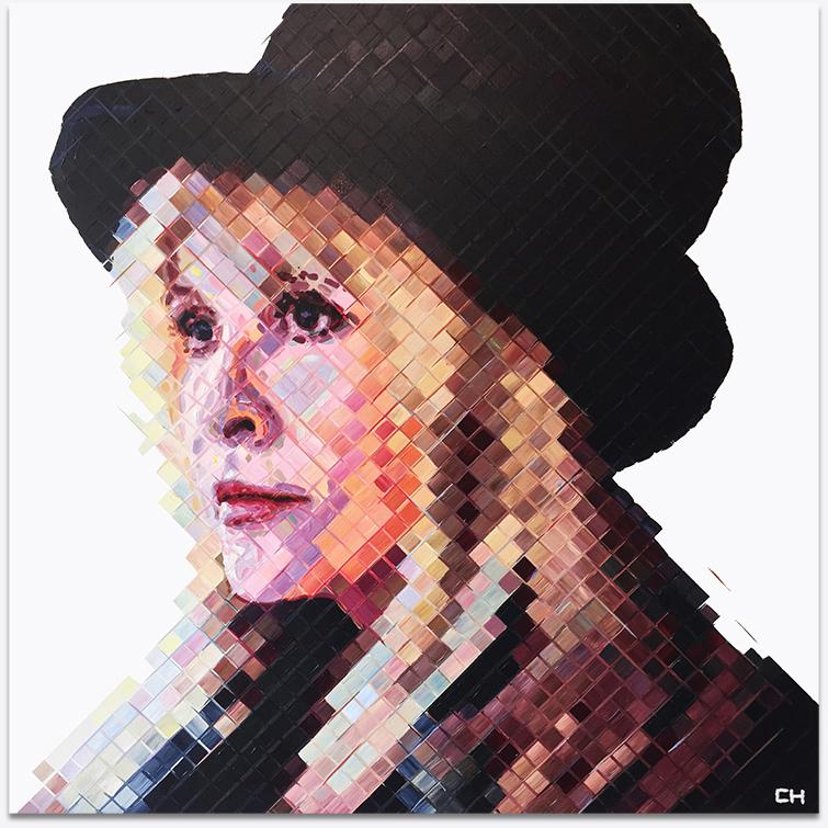 Portriat of Stevie Nicks of Fleetwood Mac by Atlanta Artist Charlie Hanavich