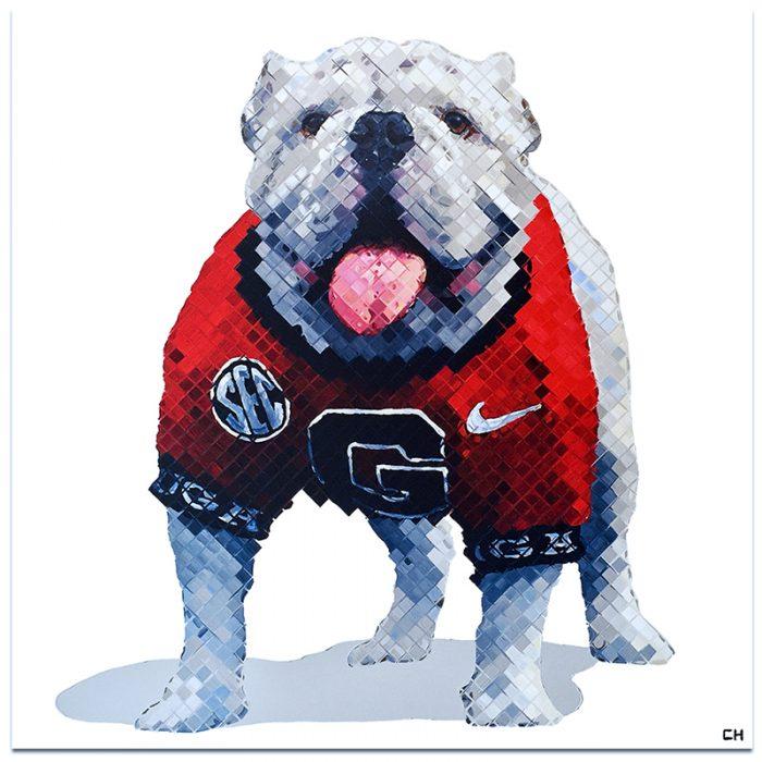 Uga bulldog Painting by Atlanta Artist Charlie Hanavich