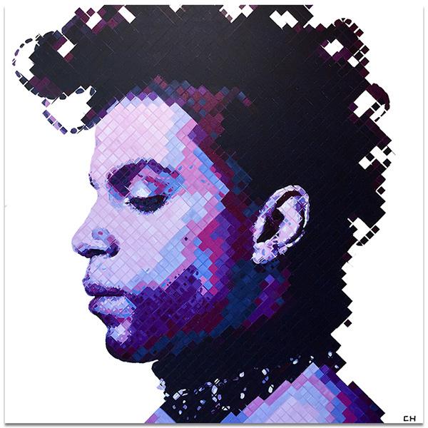 Prince portrait by Atlanta artist, Charlie Hanavich