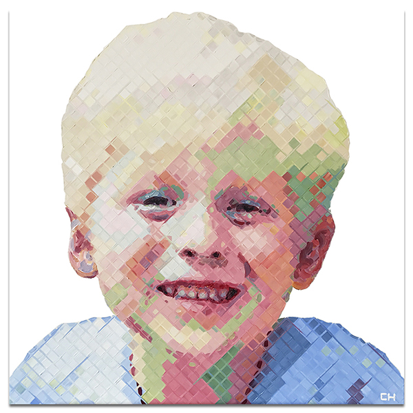 Atlanta artist Charlie Hanavich child portrait