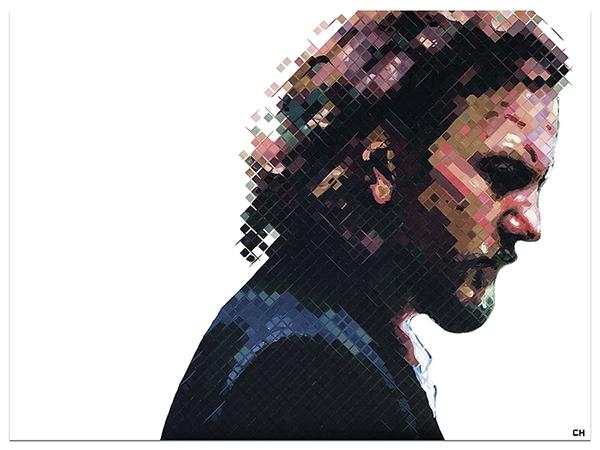 Eddie Vedder Painting by Atlanta artist Charlie Hanavich