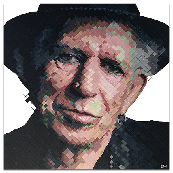 Keith Richards Painting by Atlanta self-taught artist Charlie Hanavich