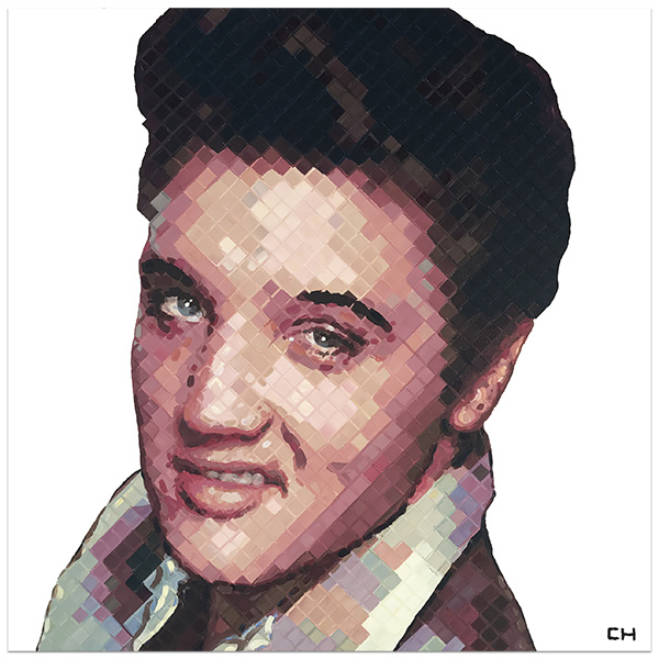 Elvis Painting portrait by Contemporary Painter Charlie Hanavich