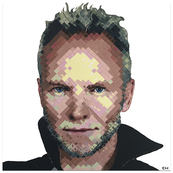 Portrait of Sting by Contemporary artist Charlie Hanavich