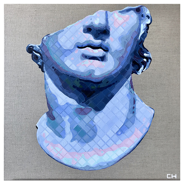 Fragmentary Colossal Head of a Youth greek sculpture painting by Charlie Hanavich