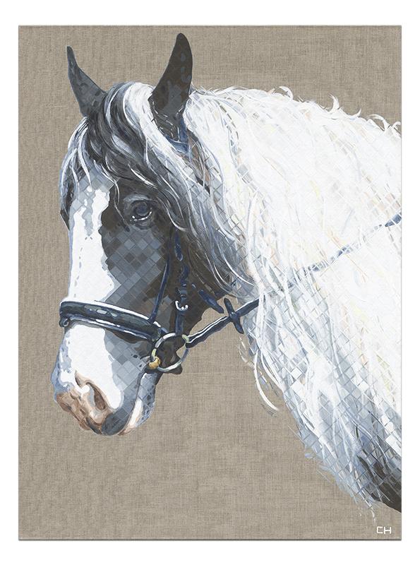 Custom Horse portrait by Atlanta Artist Charlie Hanavich