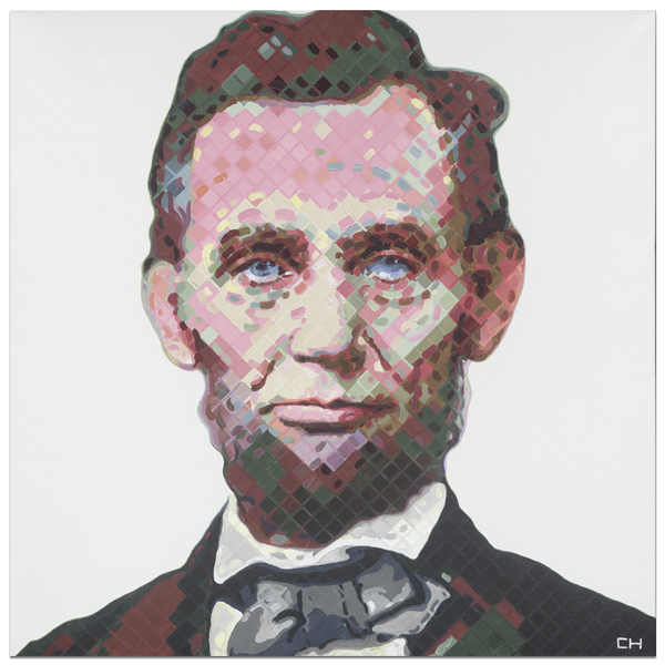 Abe Lincoln Portrait Painting by Atlanta Artist Charlie Hanavich