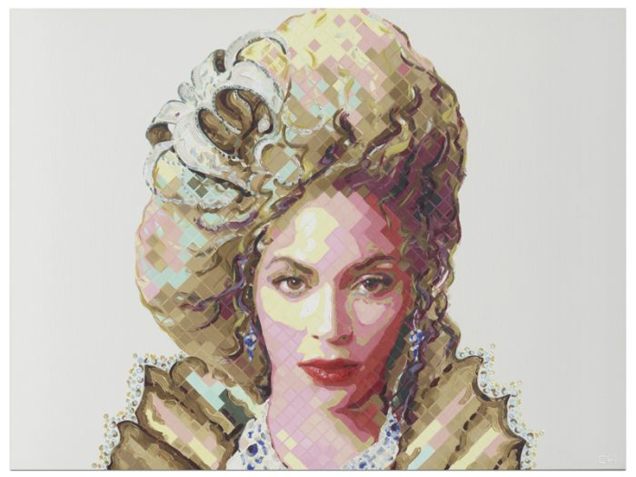 Queen Bey Beyonce Painting Commission by Atlanta Artist Charlie Hanavich