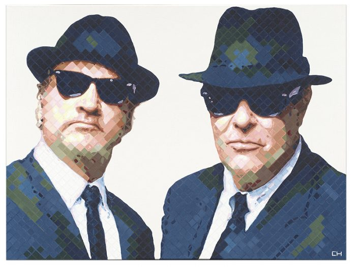 Blues brothers Portrait Painting by Atlanta Artist Charlie Hanavich
