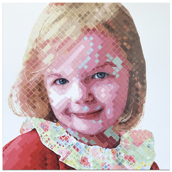 Children commission painting by Atlanta Artist Charlie Hanavich