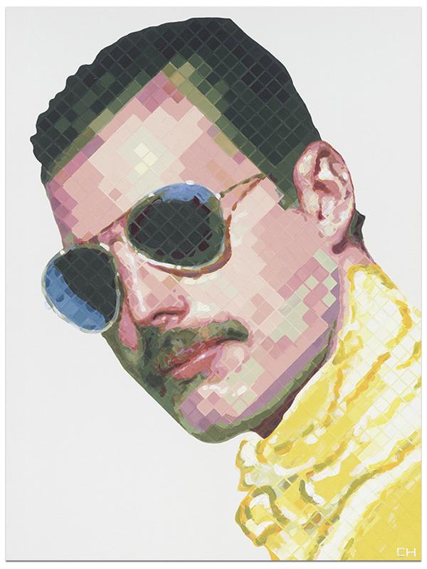Freddie Mercury Portrait Painting by Atlanta Artist Charlie Hanavich