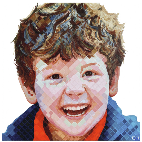 Contemporary child portrait Painting by Atlanta Artist Charlie Hanavich