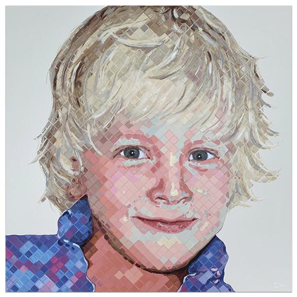 Pelham Portrait Painting by Atlanta Artist Charlie Hanavich