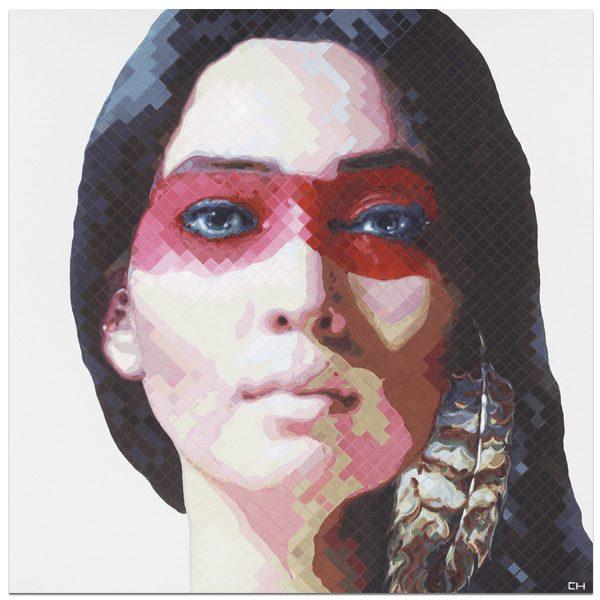 War Woman Portrait Painting by Atlanta Artist Charlie Hanavich