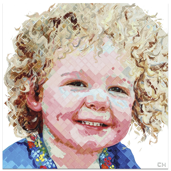 Children Portraits Painting by Atlanta Artist Charlie Hanavich