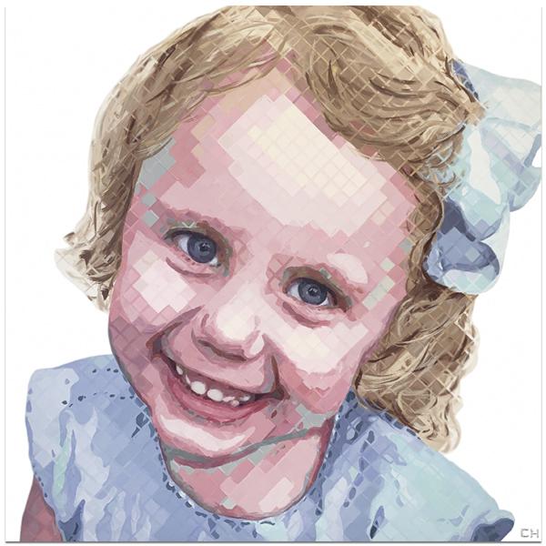 children portraits by Atlanta Artist Charlie Hanavich