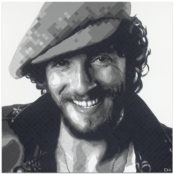 Bruce Springsteen Painting by Atlanta Artist Charlie Hanavich