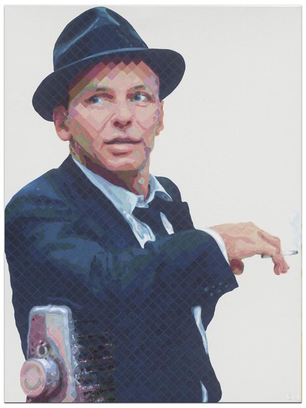 Frank Sinatra Painting Portrait Atlanta artist Charlie Hanavich