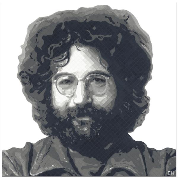 Jerry Garcia Painting by Atlanta Artist Charlie Hanavich