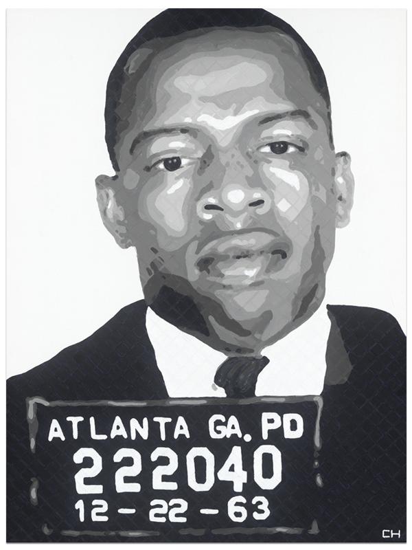 John Lewis; Mugshot; portrait Painting by Atlanta Artist Charlie Hanavich