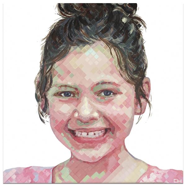 contemporary children portraits by artist charlie hanavich