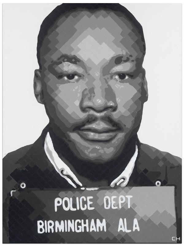 MLK Mugshot Birmingham AL Artist Charlie Hanavich