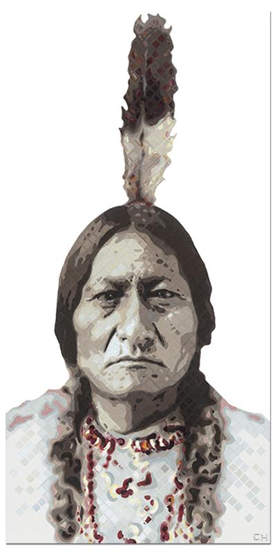 Sitting Bull Painting by artist Charlie Hanavich