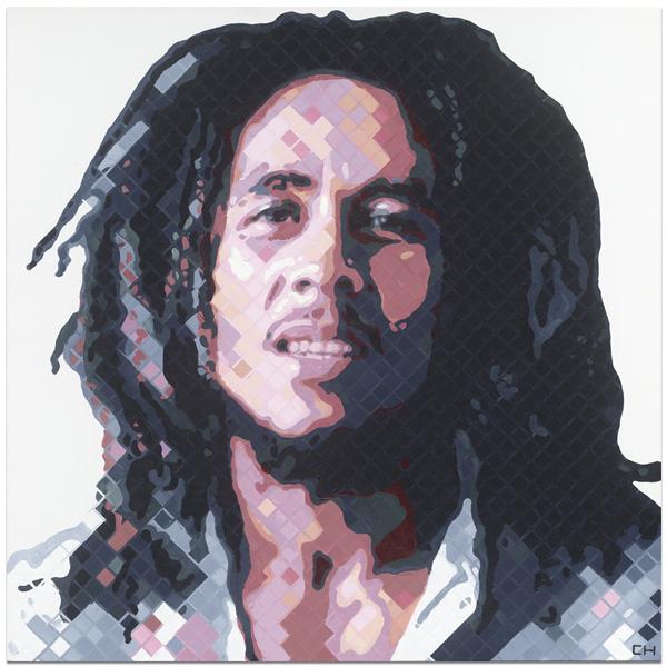 Bob Marley Portrait Painting by Atlanta Artist Charlie Hanavich